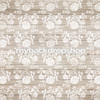 White Lace Wood Photography Backdrop - White Wood Floor Photo Prop - Item 3154