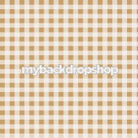 Tan and Brown Plaid Pattern Backdrop - Checkerboard Photography Backdrop - Item 3167