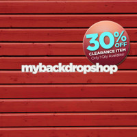 CLEARANCE - POLY - 5ft x 5ft Red Wood Photography Backdrop - Barn Photo Back Drop - Wood Plank Wall Background - Item 582