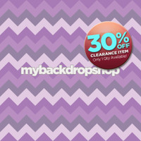 CLEARANCE - VINYL - 5ft x 5ft Purple Chevron Zig Zag Photography Backdrop - Newborn Girl Photo Prop - Item 1208