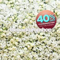CLEARANCE - VINYL - 5ft x 4ft White Rose Backdrop for Photos - Wall of Flowers Photography Backdrop - Flower Wall Backdrop - Floral Back Drop – Item 2086