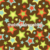 Childrens Photography Backdrop - Star Print Backdrop - Item 114