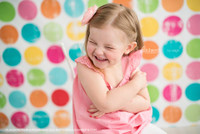 Fun Childrens Photography Prop - Color Circle Photo Backdrop  - Item 191