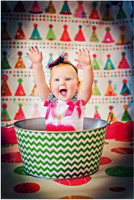 Childrens Birthday Photography Backdrop - Kids Birthday Hats Party Photo Backdrop - Vinyl or Poly  - Item 192