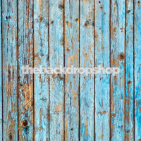 Blue Peeled Paint Wood Photography Background for Pictures  - Item 193