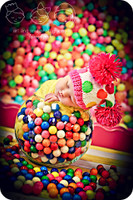 Colorful Gumball Candy Photography Backdrop or Floordrop - Product Photo Shoot Backdrop  - Item 202