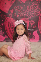 Girls Valentines Day photo Backdrop - Item 224