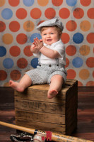 Orange and Blue  Photo Background - Kids Portrait Photography Backdrop - Item 238