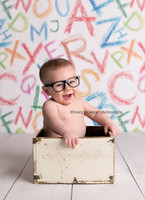 Childrens Alphabet Photography Background - Unique Studio Backdrop - Item 275