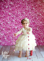 Pink Floral Scenic Photography Backdrop - Item 289