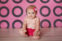 Pink Photography Backdrop with Brown Circles - Modern Portrait Backdrop for Photographers - Item 341