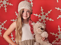 Christmas Family Snowflake Photography Backdrop  - Item 405