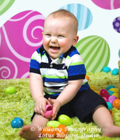 Easter Egg Backdrop for Kids Easter Portraits - Holiday Photography Background - Item 465