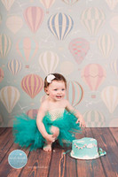 Hot Air Balloon Photography Backdrop - Kids Photoshoot Wallpaper Background - Item 505