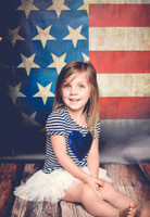 4th of July Portrait Photography Backdrop - American Flag Background for Photos - Fourth of July - Item 510