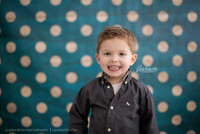 Blue Wallpaper Polka Dot Photography Prop  - Item 587