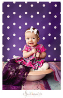 Purple Dot Photography Backdrop - Vinyl Photography Backdrop - Item 611
