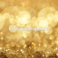 Gold Glitter Photography Backdrop for Photos - Senior Portrait Background or Prom Picture Photo Backdrop - Item 617