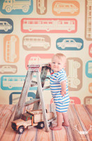 Car and Firetruck Photography Backdrop - Photo Backdrop for Boys - Item 618