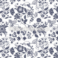 Gray Floral Wallpaper Backdrop - Item 663