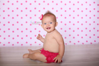 Pink Polka Dot Backdrop For Girls - Item 699