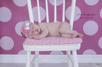 Newborn Portrait Backdrop for Studio Photography or Sweet 16 Photoshoot Background - Pink Dots - Item 700
