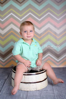 Pastel Chevron Print Photography Backdrop - Kids or Teen Portrait Shoot  Background - Item 716