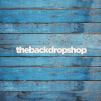Engagement Photoshoot Backdrop for Photographers - Blue Wood Wall Background or Floor Mat - Item 717