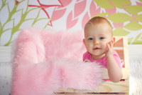 Pink and Green Geometric Flower Backdrop - Item 729