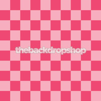 Fun Pink Checkerboard Photo Background - Item 756