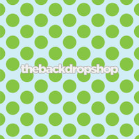 Creative Photography Prop - Lime Green and Sky Blue  Backdrop for Photos - Polka Dot - Item 763