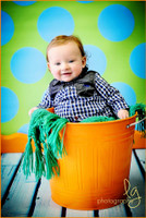 Fun Creative Photoshoot Prop for Kids -  Photography Backdrop - Turquoise and Lime Green Polka Dot - Item 766