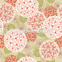 Pink Retro Flower Photo Backdrop - Item 839