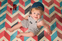 Geometric Chevron Print Photography Backdrop -  Photo Background - Item 895