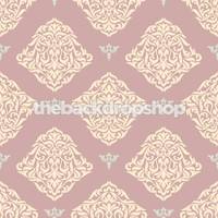 Purple Damask Wallpaper Photography Backdrop - Item 943