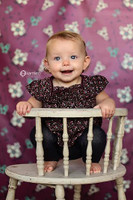 Pretty Backdrop for Newborn Photography - Purple Floral Photo Backgdrop - Item 979