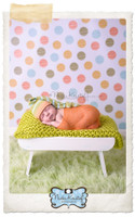 Colored Polka Dot Photography Backdrop - Cheap Studio Photo Prop for Commercial Pictures - Item 996