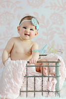 Photo Backdrop for Newborn Studio Photography - Pink Floral Wallpaper Photography Backdrop - Item 1048