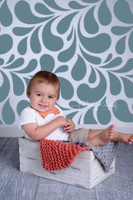 Blue Swirl Pattern Photography Backdrop for Teen Pictures - Item 1072