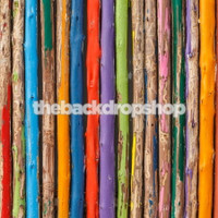 Rainbow Wood Floor Photography Prop - Item 1087