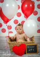 Red Dots Photography Backdrop - Item 1104