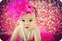 Pink Glitter Photography Backdrop - Newborn Girls Photography Prop - Sweet 16 Photo Prop - Item 1120