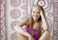 Purple Boho Print Backdrop for Photography  - Item 1125