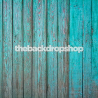 Turquoise Blue Wood Floor Drop Photography Backdrop - Wood Plank Photographer Background - Item 1137