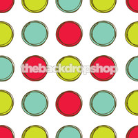 Bright Color Dots Photography Backdrop or Floor Mat  - Item 1155