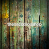 Grunge Turquoise Blue Wood Floor Drop Photography Backdrop - Wood Plank Photographer Background - Item 1156