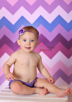 Purple and Pink Pastel Chevron Pattern Photography Backdrop - Item 1161
