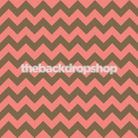 Pink and Brown Chevron Pattern Photography Backdrop - Newborn Girl Photo Back Drop - Item 1168