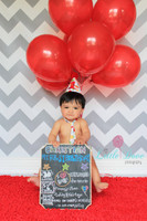 Gray and White Chevron Photo Backdrop - Item 1170