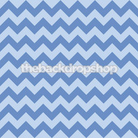 Blue Zig Zag Photography Backdrop - Chevron Pattern Photo Background - Item 1183